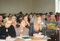 Meeting of first year students of the Legal institute with the judge of the Constitutional court of Ukraine
