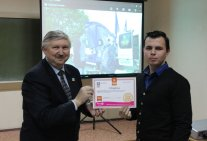 The management and students presented Certificates of the National Committee for Polio Plus in Ukraine