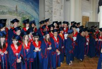 Handing of diplomas for the graduating students of the Legal institute