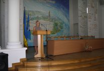 A lecture of director of the Legal institute for the students of the first course