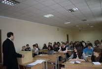 Students meeting of  a Law  Institute with scientific advisor of the Constitutional Court of Ukraine